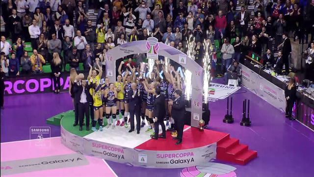 Conegliano vince il primo trofeo stagionale: Novara ko in Supercoppa