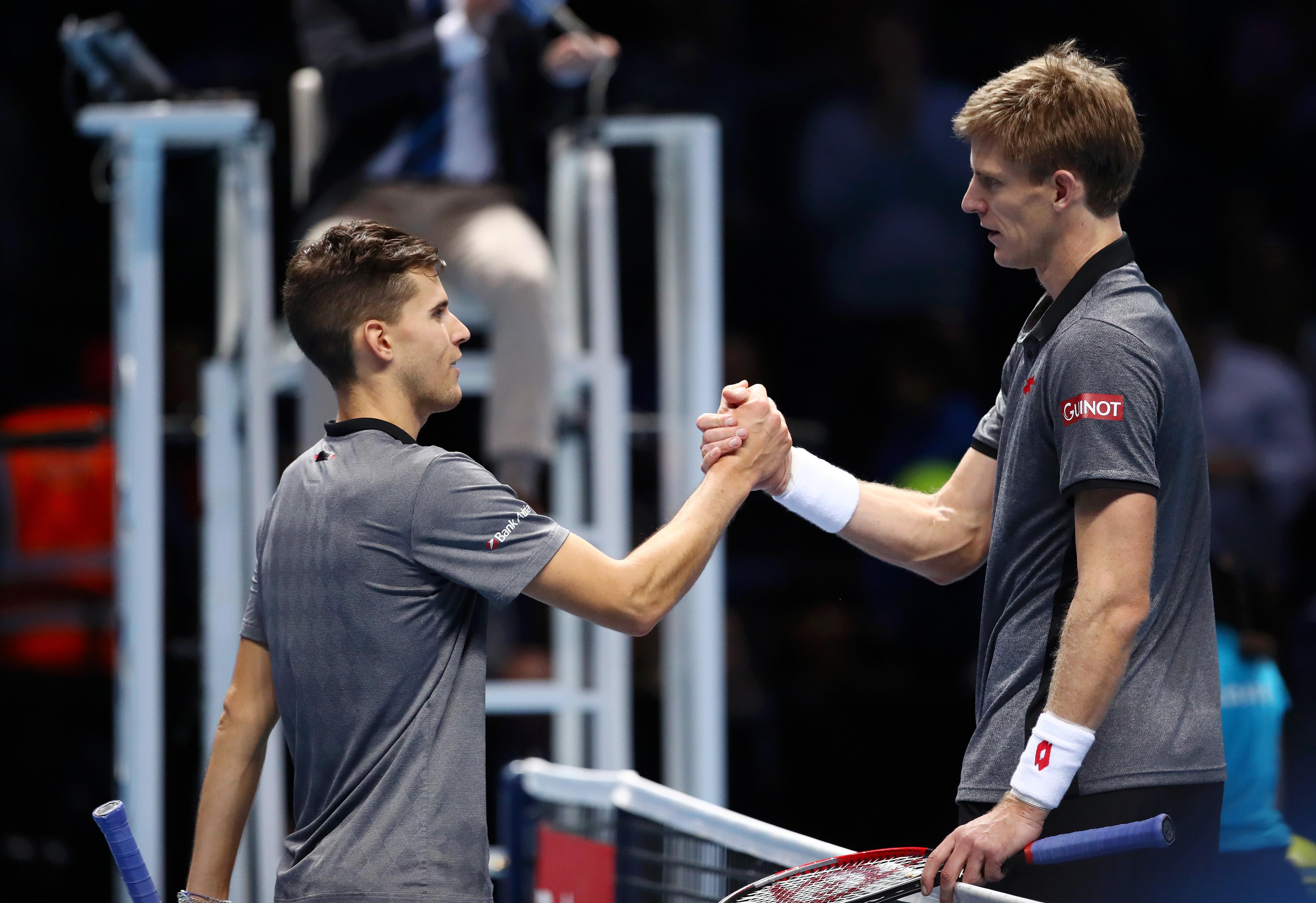 Dominic Thiem et Kevin Anderson lors du Masters 2018