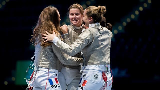 La France remporte l'or par équipe à la Coupe du monde de sabre à Orléans