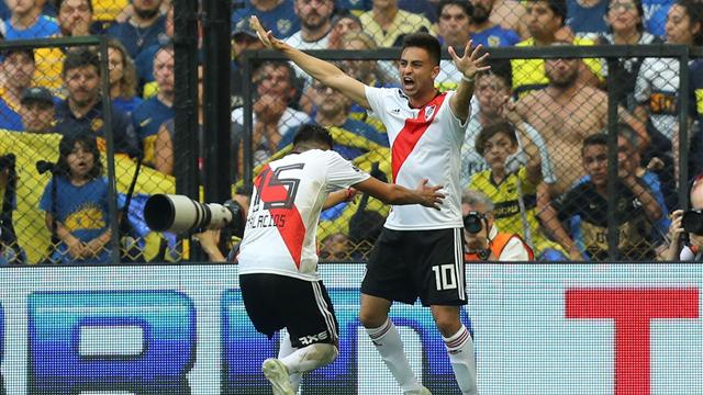 Own goal sees River Plate salvage draw against Boca Juniors in first leg of final