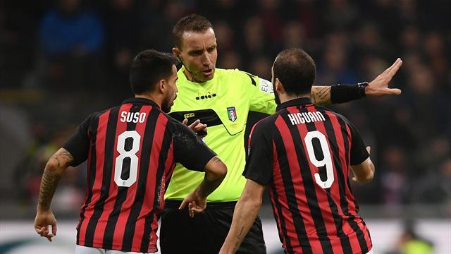 La moviola di Milan-Juventus 0-2: Benatia graziato da Mazzoleni, severo il rosso su Higuain?
