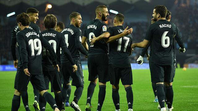 La cura Solari funziona: 4-2 al Celta Vigo e il Real Madrid si porta a -4 dal Barcellona