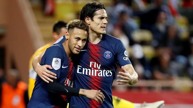 Cavani hat-trick piles pressure on Henry as PSG hammer Monaco