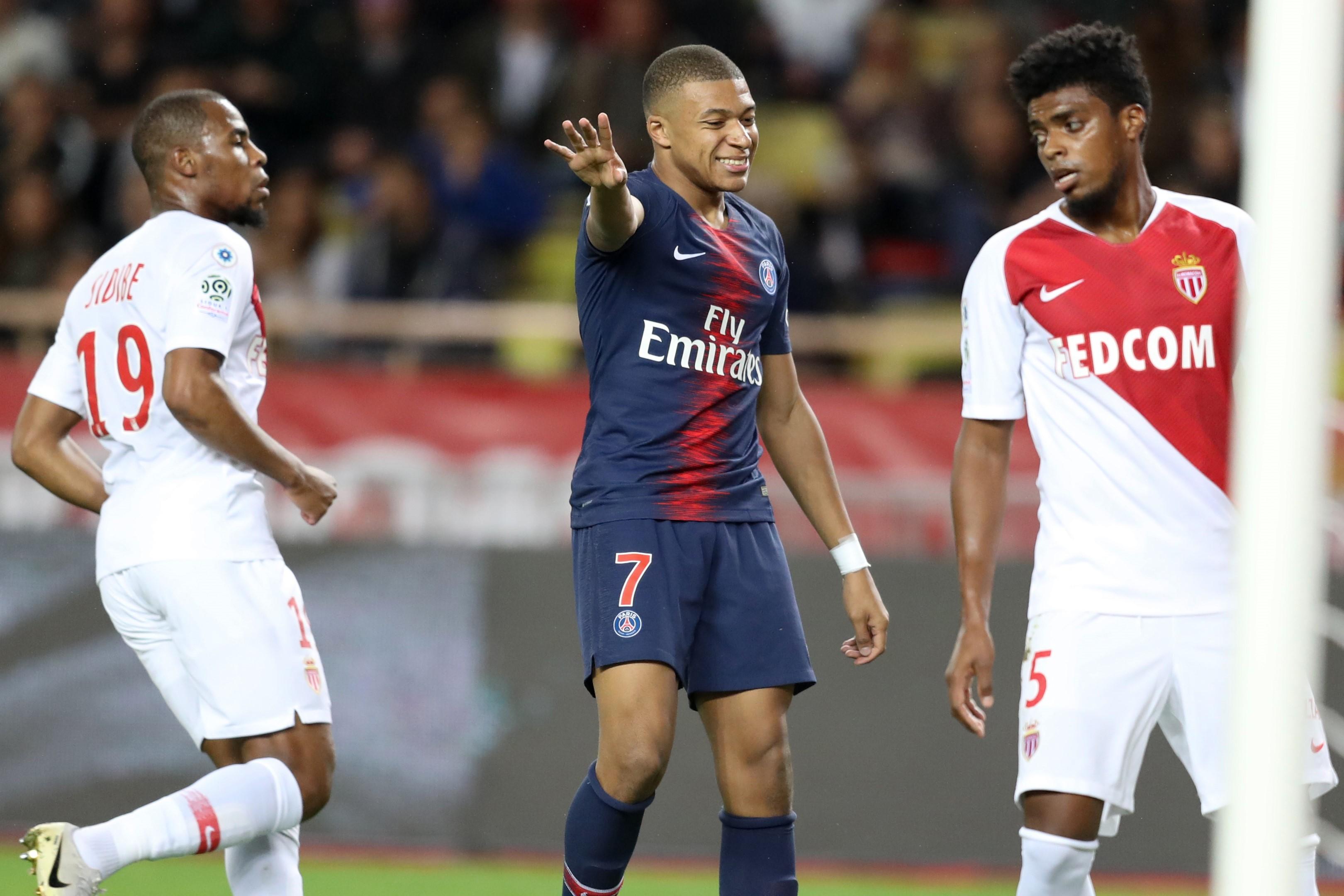 Kylian Mbappé lors de Monaco-PSG / Ligue 1
