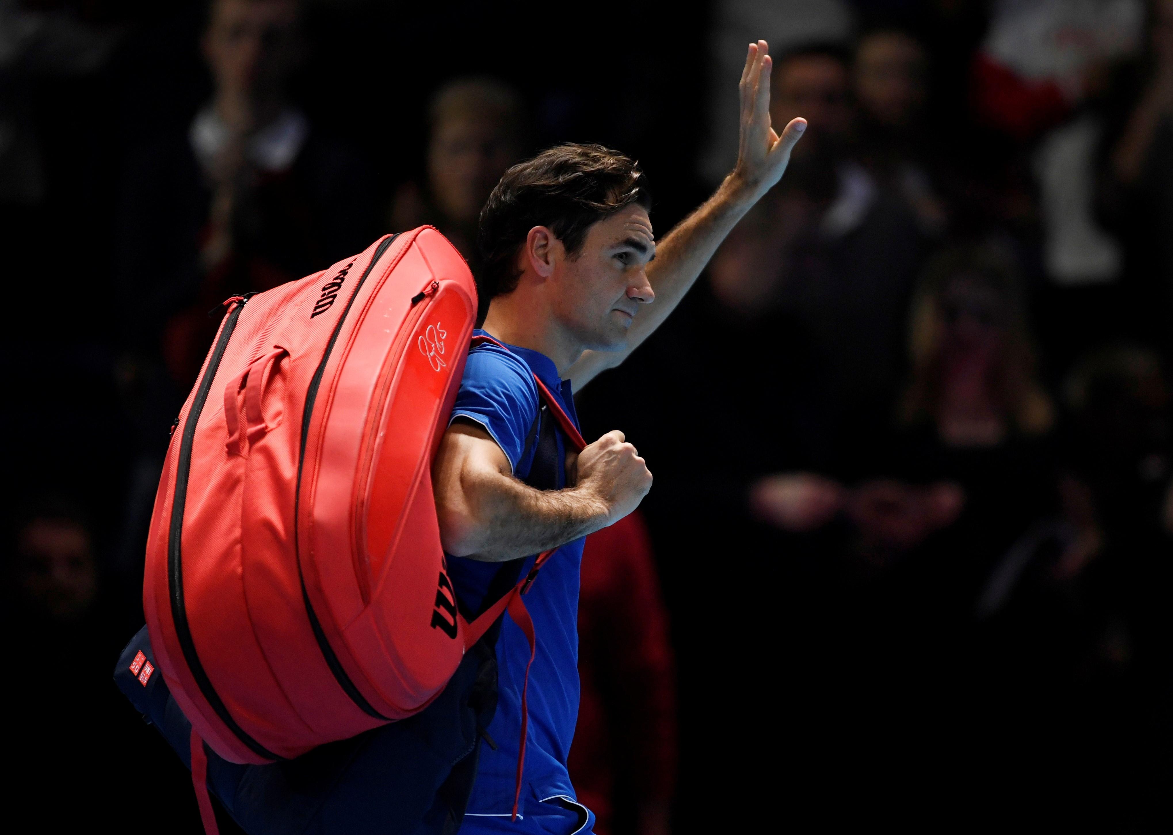 Roger Federer lors du Masters