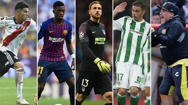 Palacios, Dembélé, Oblak, Joaquín y Maradona, los nombres del día
