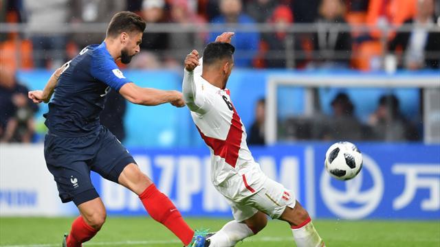Giroud sur France-Pérou : «Si Kylian ne l'avait pas touché, ça faisait but»