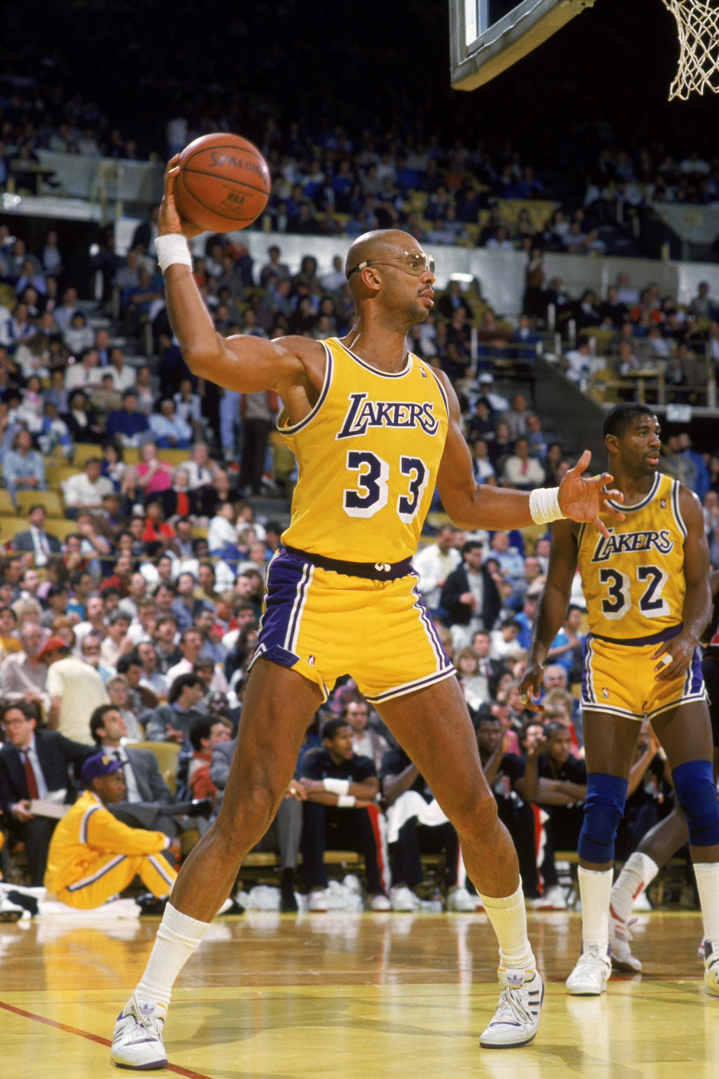 Kareem Abdul-Jabbar (Los Angeles Lakers) en 1987