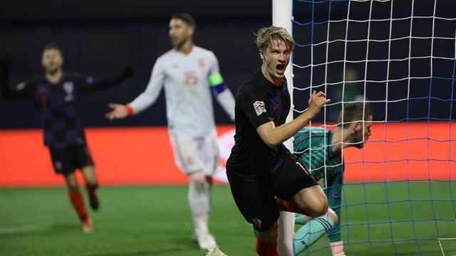 UEFA Nations League, Croacia-España: Al purgatorio (3-2)