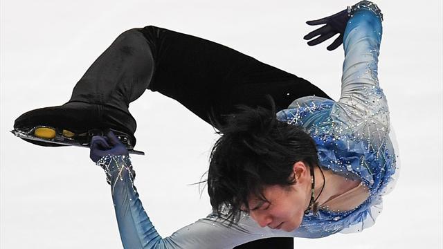 Wereldrecord! Hanyu fenomenaal op korte kür in Moskou