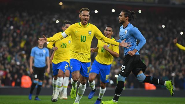 Neymar's 60th goal for Brazil delivers win over Uruguay