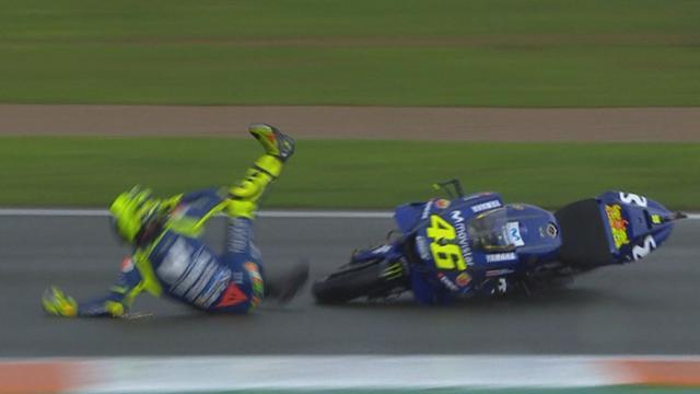 Un crash pas rassurant pour Rossi