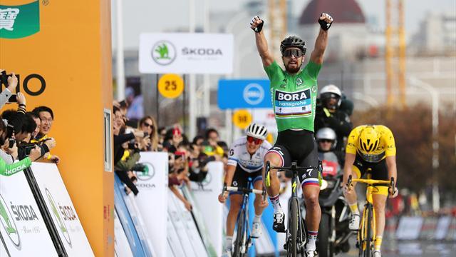 Au sprint, Sagan s'impose devant Thomas et Trentin