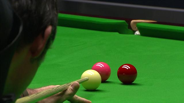 O'Sullivan flukes red when snookered, clears up to beat Selby in epic final frame