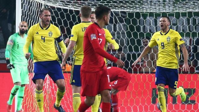 La Svezia vince in Turchia: 1-0 con gol di Granqvist e primo posto ancora possibile