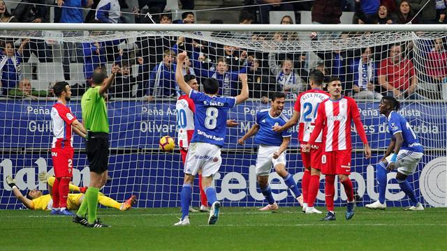 ⚽ El Oviedo se lleva el derbi ante el Sporting (2-1) y deja sentenciado a Baraja