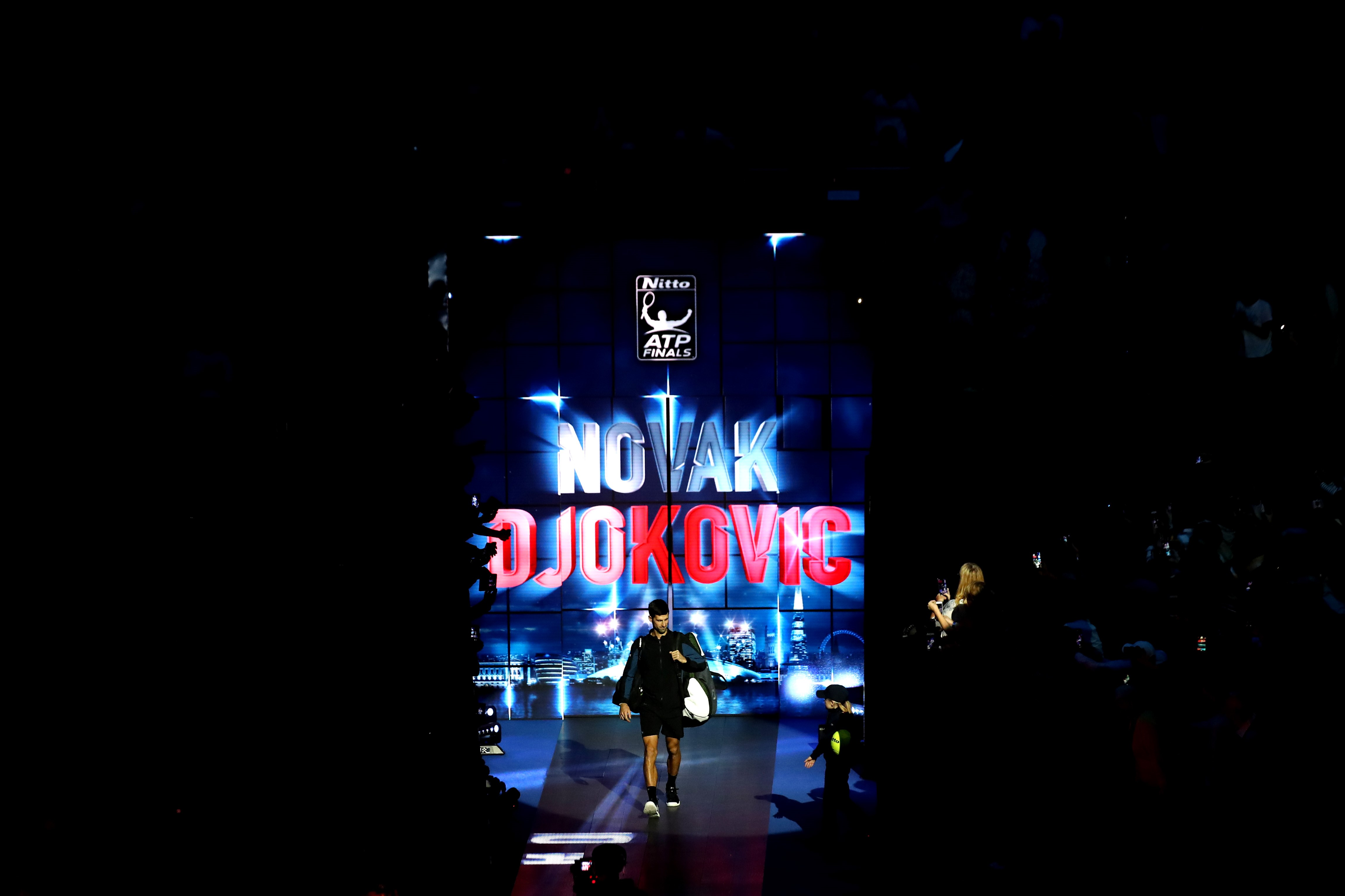 Novak Djokovic lors du Masters