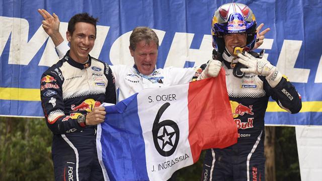 Sébastien Ogier remporte son sixième titre mondial consécutif