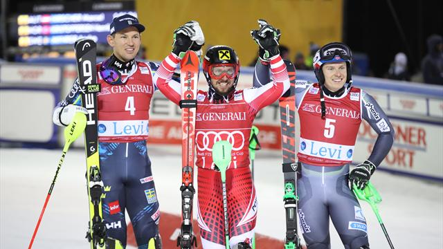 Myhrer på pallen i slalompremiären – efter starkt andraåk