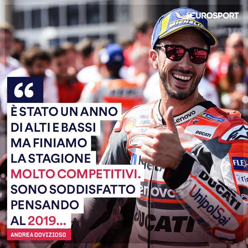 Andrea Dovizioso ha chiuso il 2018 al secondo posto in classifica con 245 punti e 4 vittorie