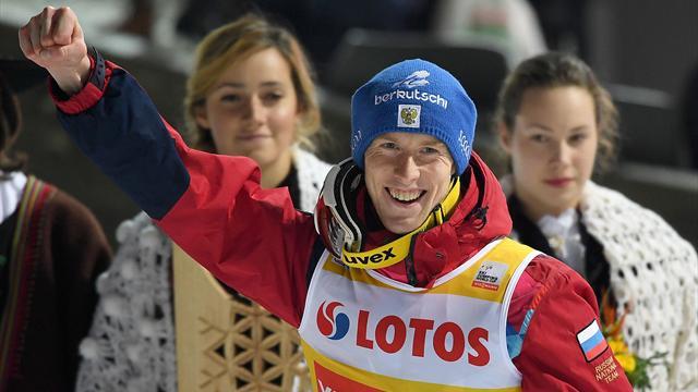 Русский летун впервые выиграл этап Кубка мира. Он провалился в Сочи-2014 и ушел в другой спорт