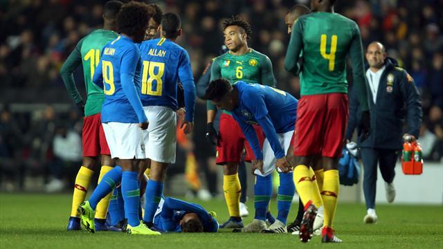 Touché à la jambe droite, Neymar se veut rassurant et annonce «rien de grave»