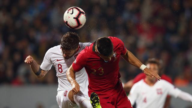 André Silva e Milik su rigore: Portogallo e Polonia chiudono il gruppo 3 con un 1-1