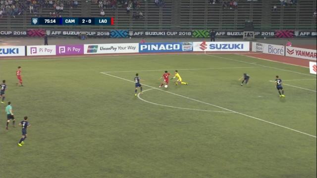 Suzuki Cup - La réduction du score du Laos contre le Cambodge
