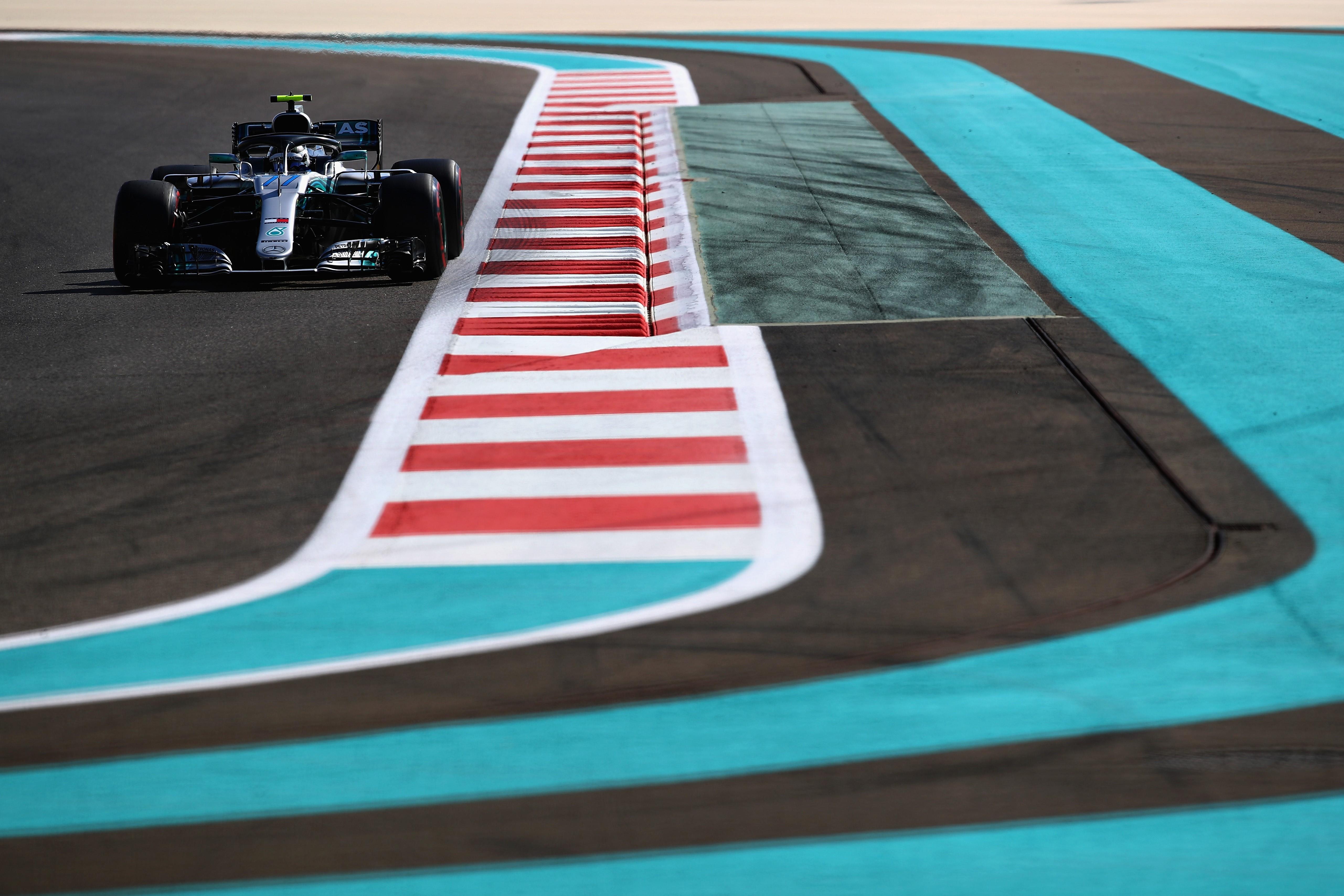 Valtteri Bottas (Mercedes) au Grand Prix d'Abou Dabi 2018