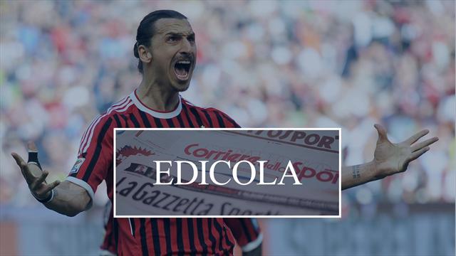 Edicola: Ibrahimovic rifiuta l'Inghilterra, vuole solo il Milan. Inter-Lautaro, occhio alla clausola