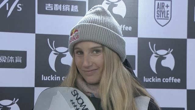 Big Air FIS World Cup Beijing| Interview met Anna Gasser: 'blij dat ik weer op het podium sta'