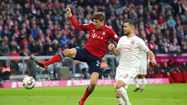 Dusseldorf stun Bayern with stoppage-time equaliser
