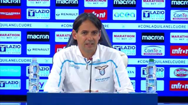 """Simone Inzaghi: """"Lotito e Tare mi sono vicini, si è scritto troppo"""""""