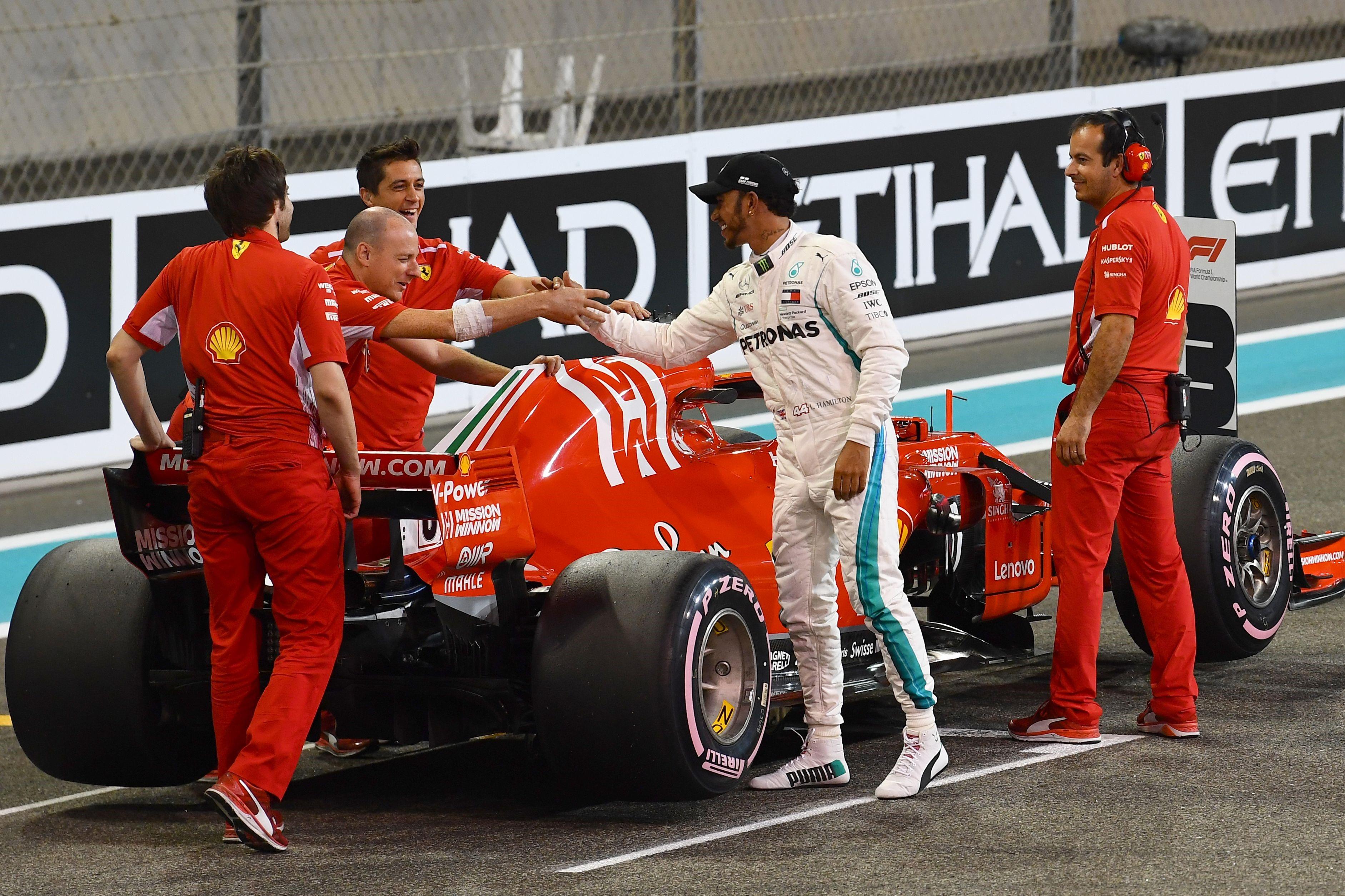 Lewis Hamilton (Mercedes) au Grand Prix d'Abou Dabi 2018