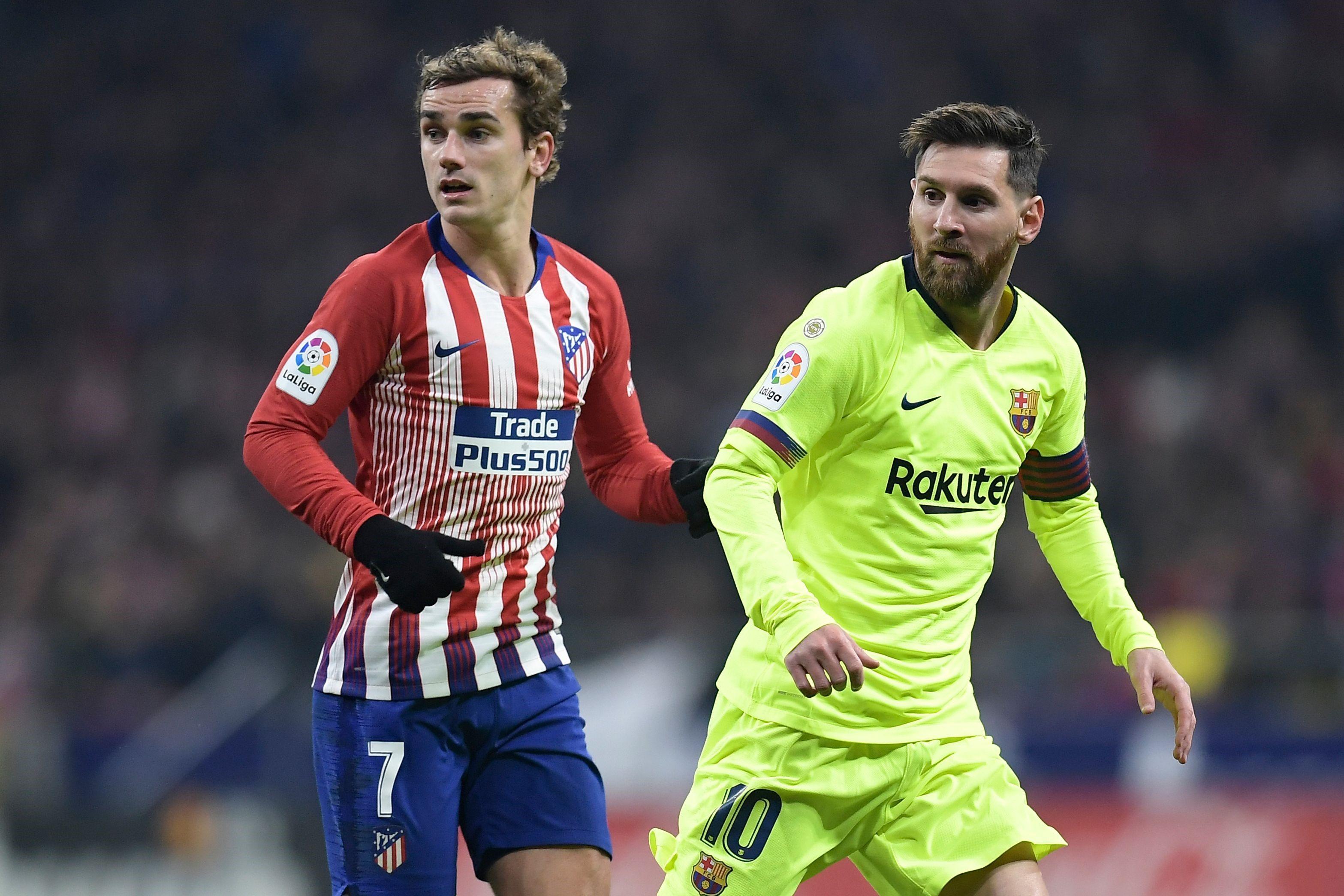 Messi ve Griezmann, Atletico - Barcelona