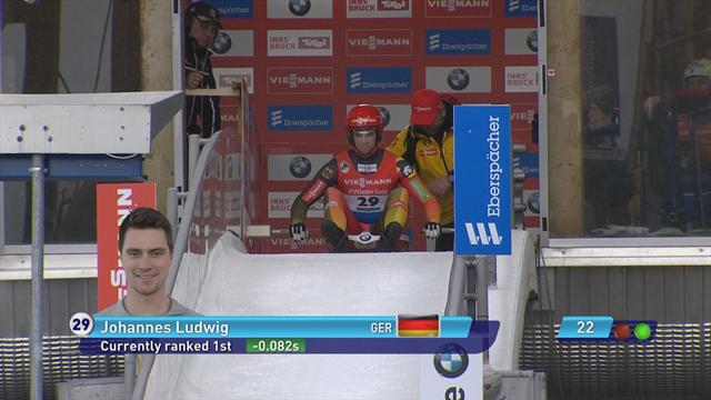 Ludwig wins first Luge World Cup event of the 2018/19 season.
