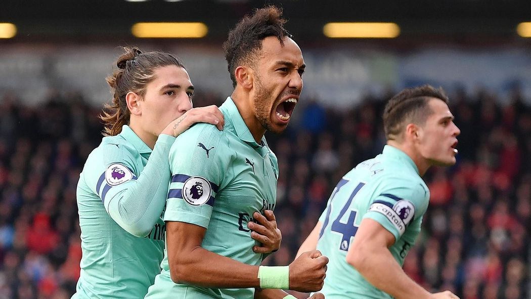 Image result for pierre aubameyang vs bournemouth