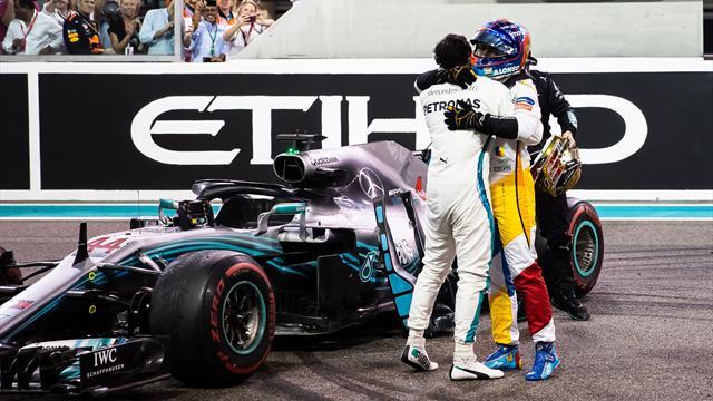 """El bonito gesto de Hamilton y Vettel con Alonso: """"Ha sido un detalle de grandes campeones"""""""