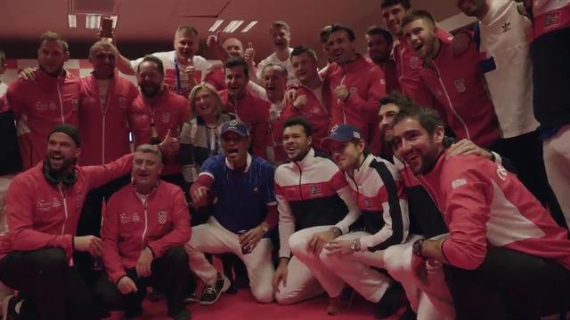 La lección de deportividad del equipo francés felicitando a Croacia en el vestuario por la Davis