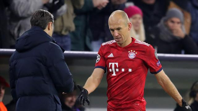 Bayern winger Robben ruled out until new year