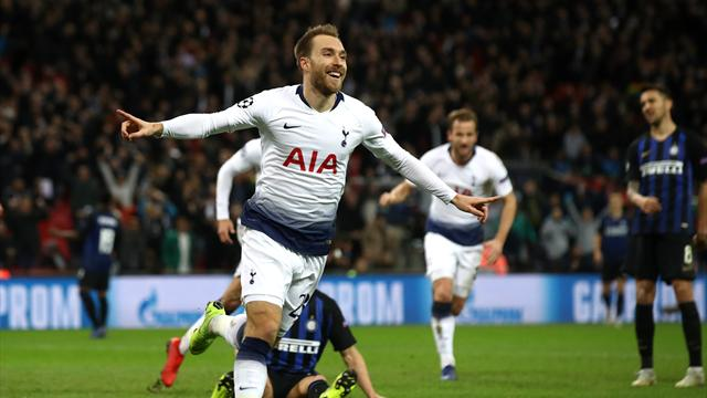 Eriksen strike keeps Tottenham's Champions League hopes alive
