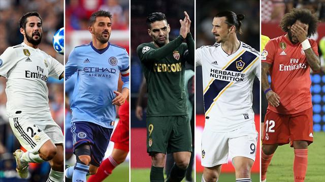 Isco, Villa, Falcao, Ibrahimovic y Marcelo, los nombres del día