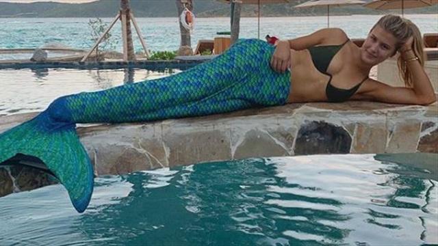 Eugenie Bouchard se transforma en una sirena durante sus paradisíacas vacaciones