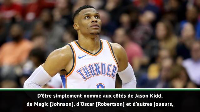 """NBA - Westbrook : """"Honoré et touché"""" d'égaler Jason Kidd"""