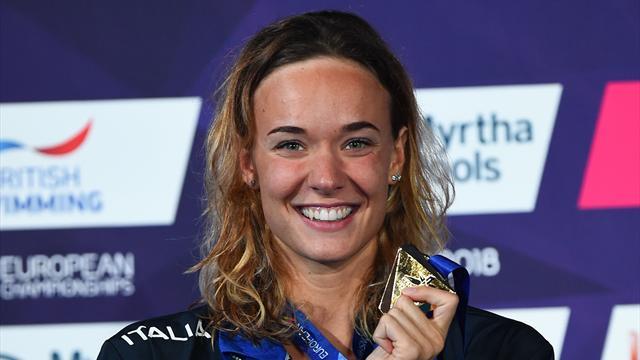 Campionati italiani: Margherita Panziera passeggia nei 200 dorso, bene Carraro e Quadarella