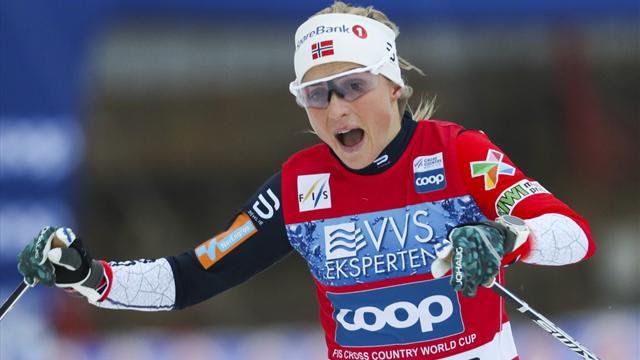 Johaug ijzersterk in Lillehammer