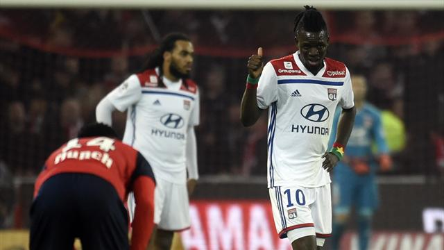 Lyon fight back from 2-0 down to draw at Lille