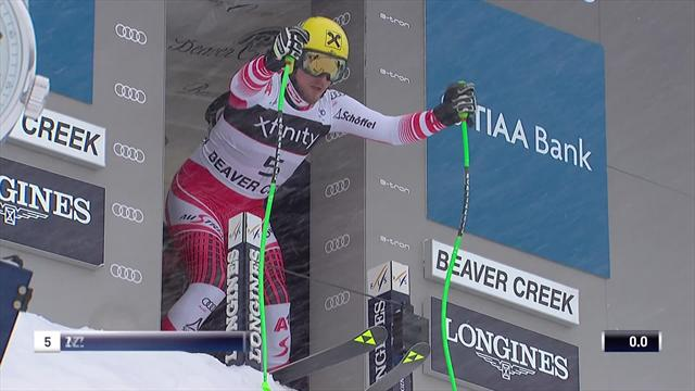 Max Franz takes Super G title at Beaver Creek - see his winning run