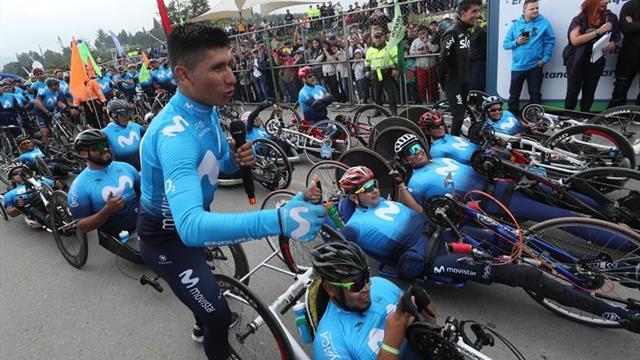 El ciclismo colombiano vive su fiesta en Boyacá con su ídolo Nairo Quintana