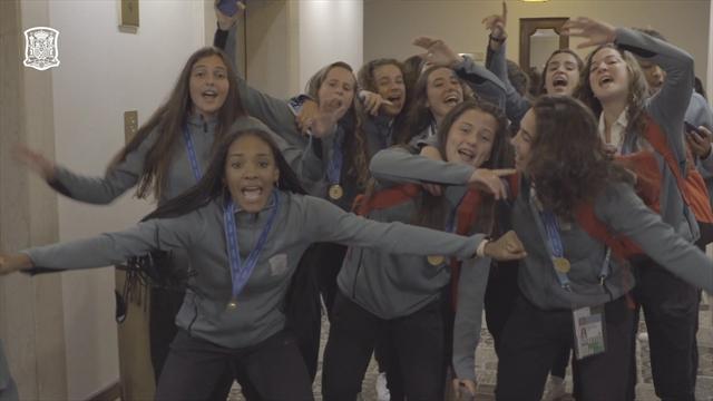Ni OT ni reguetón: La sorprendente canción con la que la Sub-17 celebró el título